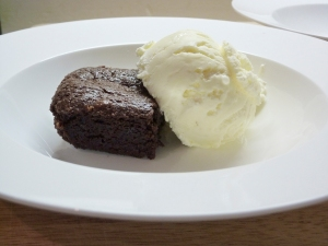 brownie and icecream