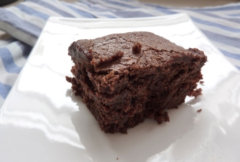 Chewy, Moist, dense, fudgy gluten free brownie