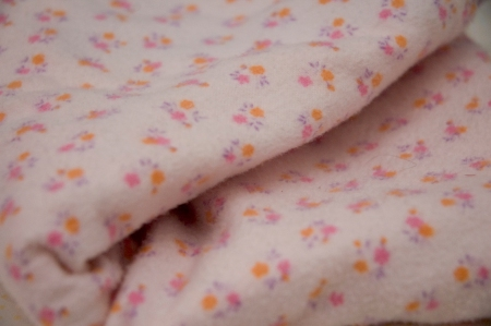 Pink Orange and Purple Vintage Flannelet
