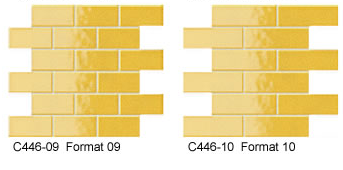 Yellow Glass Brick Tiles
